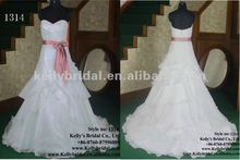sweet heart neck with ruffle bridal dresses 2012 for women