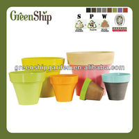 Decorative Bright flower pot painting designs/ long liftetime/patented products/eco-friendly