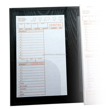 Fancy PVC material menu brochures holders for tables and restaurant