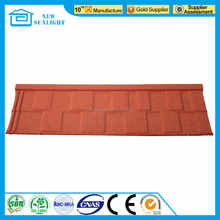 Terracotta Stone Chips Coated Metal Roof Tile