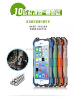 Waterproof Shockproof Gorilla Tempered Glass Metal Armor smartphone Cover Case For iPhone 5 5s