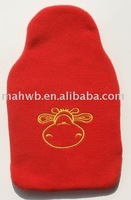 2L HOT WATER BOTTLE WITH FLEECE COVER