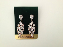 South America new design Rose gold bridal AAA cz earrings