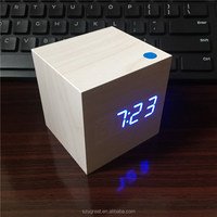 wholesale table stand small wood alarm clock