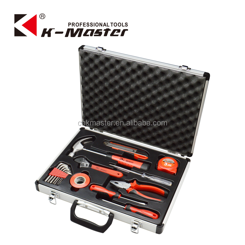 <strong>K</strong>-Mastet <strong>17</strong> pcs professional high quality household hand tool set tool kit aluminum tool box