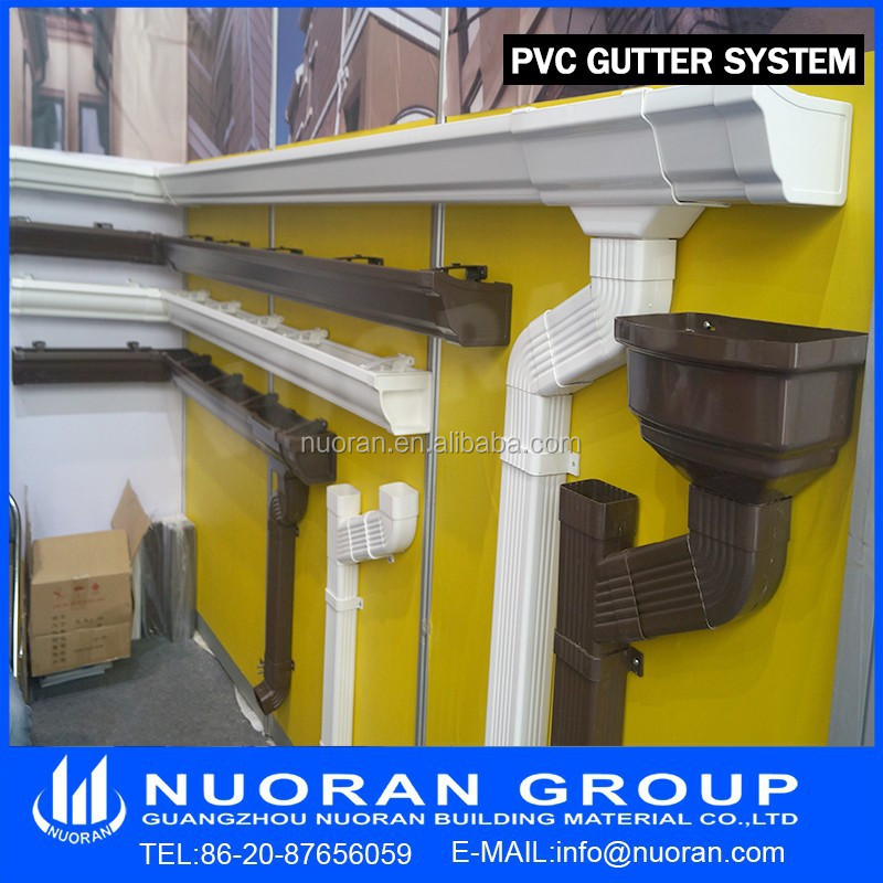 Easy Install Pvc Gutter Downspout For Rainwater Collector