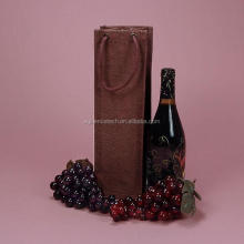 2015 Hot Loose Rope Handle Recycled Shopping Bag for Bottle Wine carry wine bags