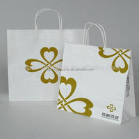 2016 china online selling handwork cream wedding paper gift bag with your own logo