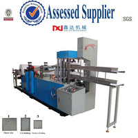 Automatic paper processing printing folding napkin tissue serviette machine