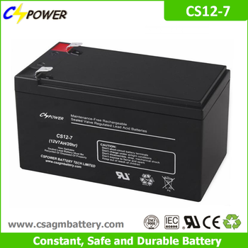 Cspower agm 12V 7.2Ah rechargeable ups battery for Power tools