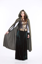 Dream party woman man dashing halloween costume green mantle burnoose cape