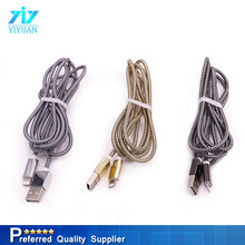 OEM length durable and wearable nylon braided USB cable for micro 8 pin usb charging