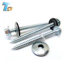 Fast penetrate and rust proof hex head self tapping screw with washer