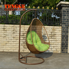Outdoor Garden PE Round Rattan Swing Chair