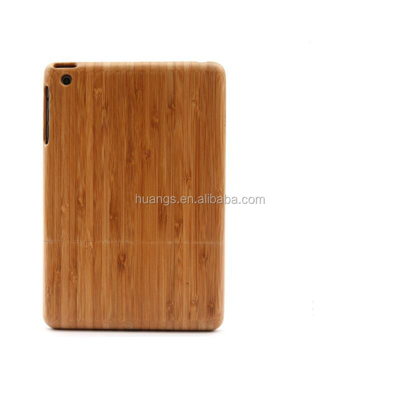 2015 new products Custom Design Accept Bamboo Wooden Back Cover for ipad mini wooden case wholesale