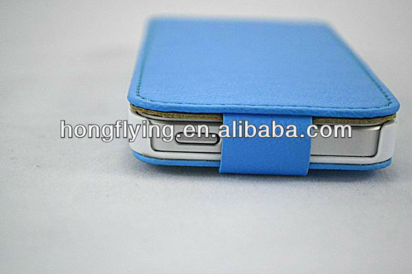2012 Newest Desgin hot selling good quality flip leather case for iphone 5