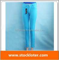lady skinny trousers pant closeout merchandise, 140901h