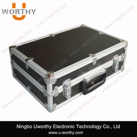 wholesale aluminum material hard alu cases packaging storage boxes with padding foam