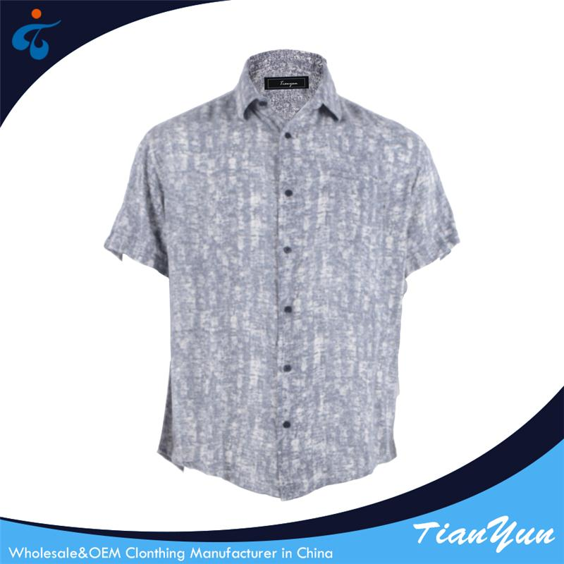 China factory latest new model design short sleeve casual mens rayon shirts