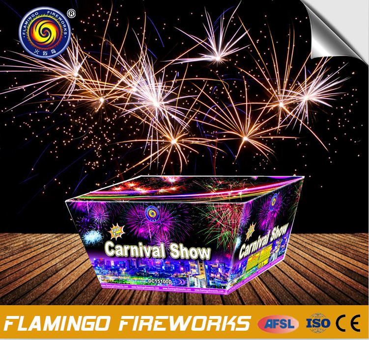 100shots carnival show fireworks for export