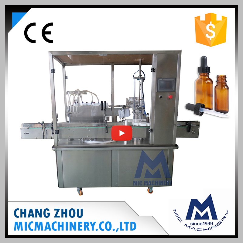 Micmachinery professional design MIC-L40 cbd oil automatic filling and capping machine