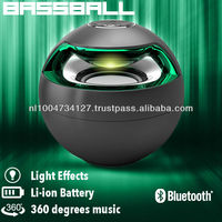 New cool bassball Bluetooth Speaker, white and black color
