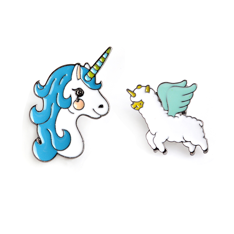 Cute Unicorn Alpaca Pin Lapel Badge Backpack Jacket T-Shirt Decoration Unicorn Jewelry Enamel Brooch Pin