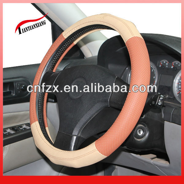 2013 Hot Selling Fashion leather steering wheel cover for ALL CAR F-43