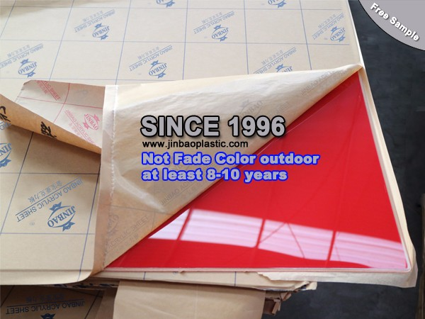 Laser and cnc engraving machine use colour cast acrylic sheet