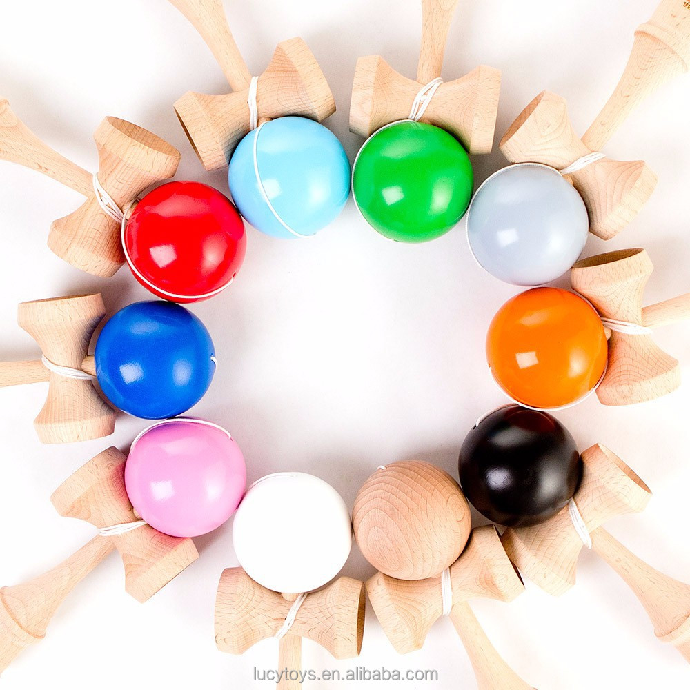 wholesale hot selling high quality cheap solid paint kendama