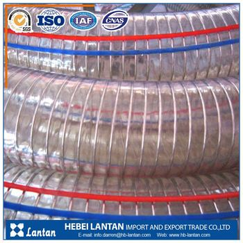 china manufacturer pvc spiral steel wire reinforced flexible PVC hose pipe