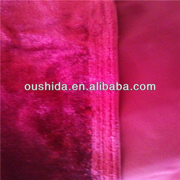 high quality shine velvet bonded with TC for sofa farbic