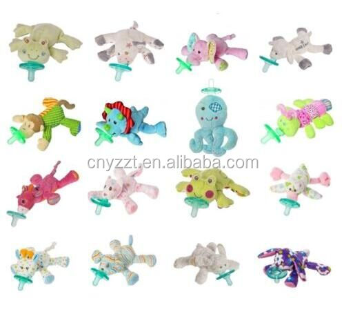 free sample plush baby pacifier animal toy/kids animal toys/plush animal toy
