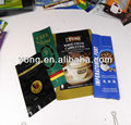 Resealable coffee pe bags with degassing valve