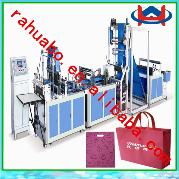 auto ultrasonic non-woven bag machine soft loop hand bag machine sewing loop handle small scale production non woven bag machine