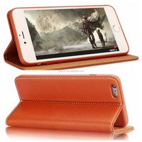 2015 Fashionable Foldable Stand card holder Mobile Phone Leather Case For iPhone 6