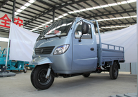 Loncin X5 300cc /600cc self-discharging semi closed China cargo tricycle for sale in philippines/with cabin/motor tricycle