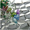 300*300mm Water Cube Sliver 3D Mosaic Art Tile Metal Mosaic Tile Stainless Steel Tile