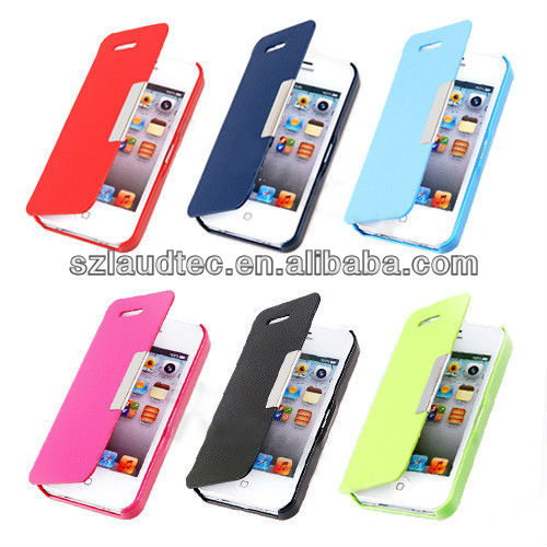 Hot Sale Magnetic Leather Flip Hard Full Case Cover Protect For iPhone 5 5S
