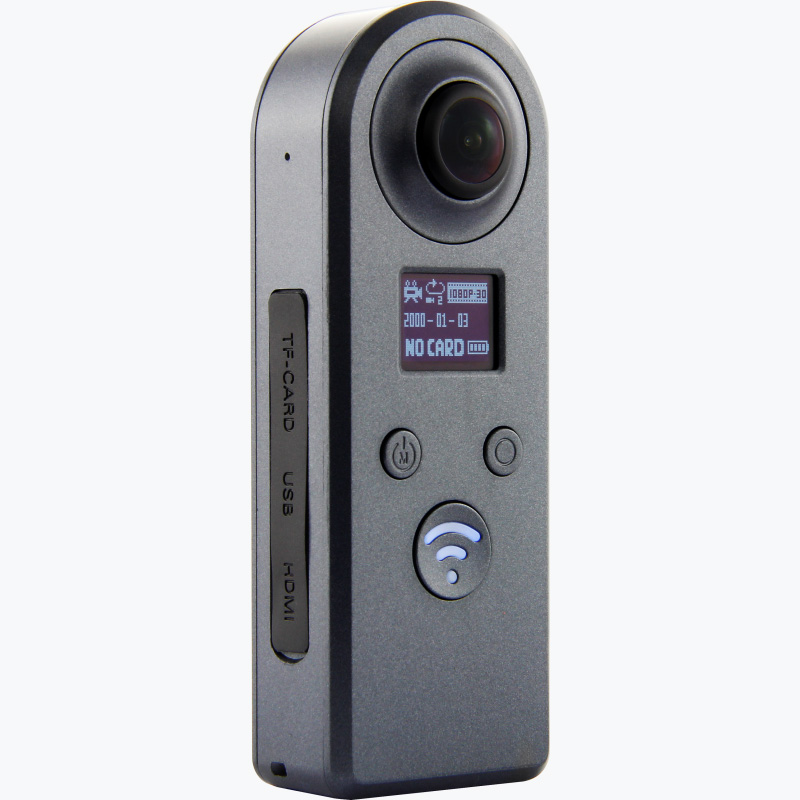 Best quality new design Panorama dual lens cams 360 degree Action camera