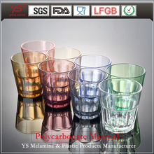 SGS certified superior quality PC thick stem wine glass polycarbonate glasses cup pretty plastic tea cups