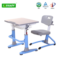student ergonomic height adjustable desk and chair