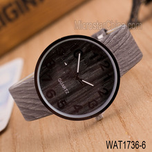 2015 china watch factory leather band vogue men wooden oem cheap watch