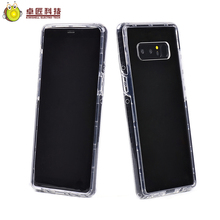3 in 1 transparent clear tpu+pc silicon bumper case for note 8