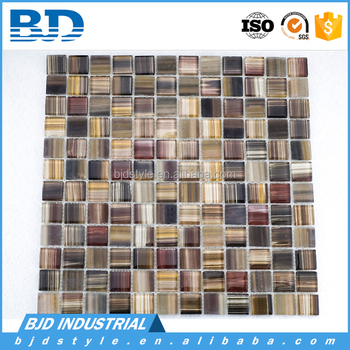 Floor tiles glass mosaic ceramic tile brush metal mosaic