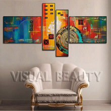 Modern Abstract Oil Painting Decorative Group Painting