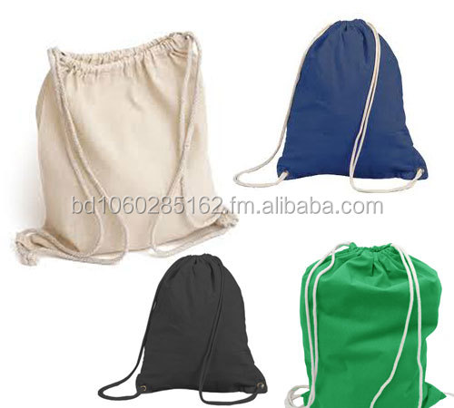 cotton backpack shopping bag