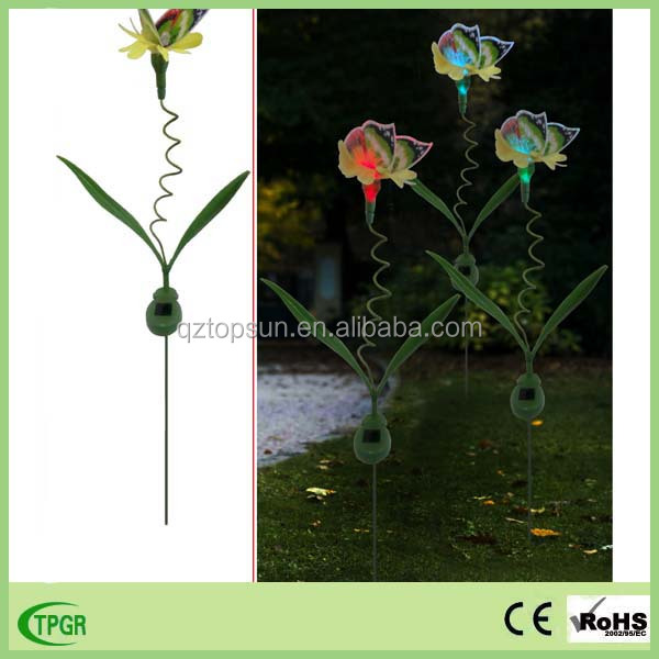 Landscape light item type butterfly solar lamp garden stake light