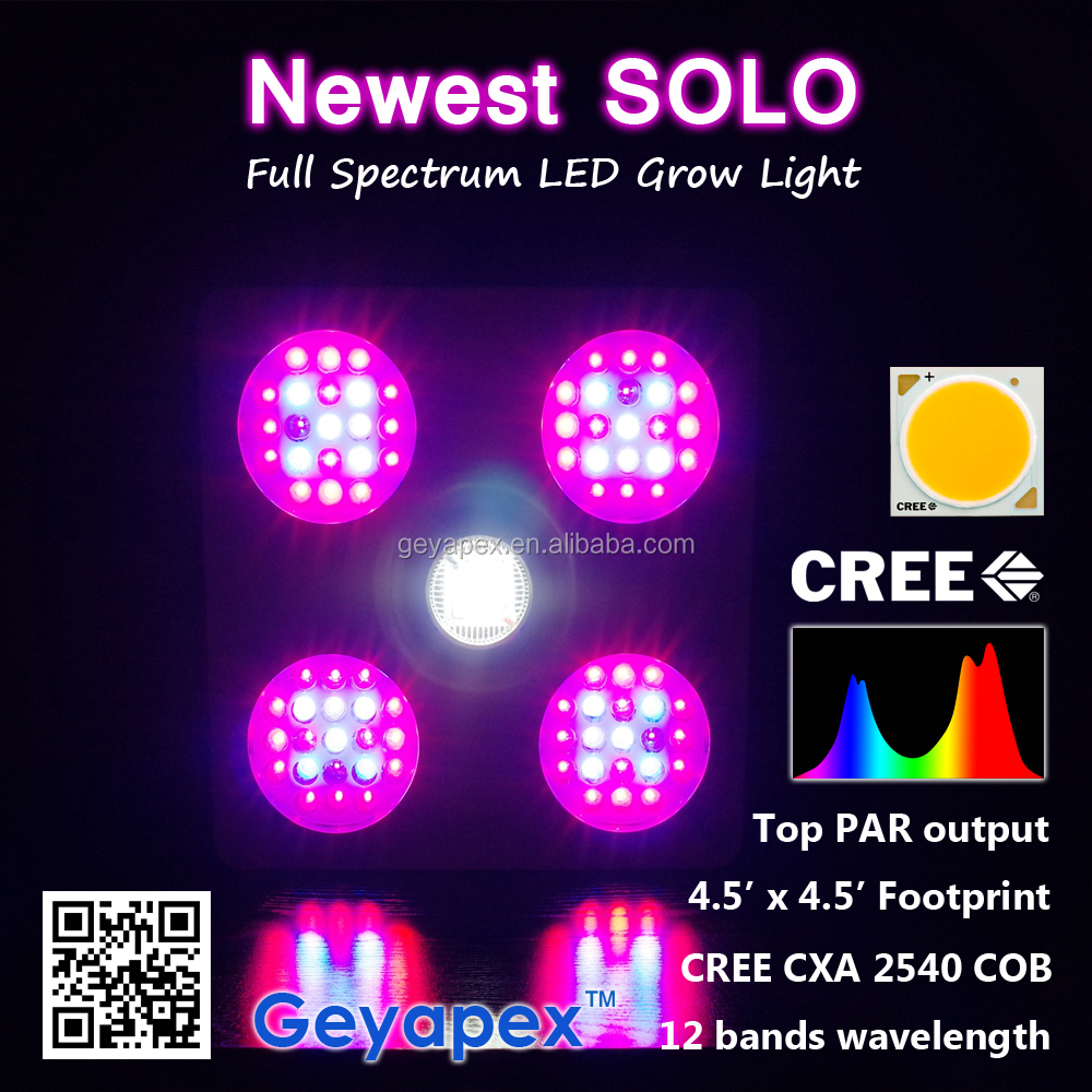 Solar grow lights bridgelux vero 29 cob grow light 300w led grow light