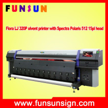 Flora LJ 320P Polaris 512 15pl head 1200dpi 110sqm sqm fast speed solvent printer digital printing machine canvas printer